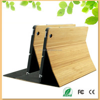 made in China smart cover case for iPad Mini, full bamboo folio cover stand case for ipad mini