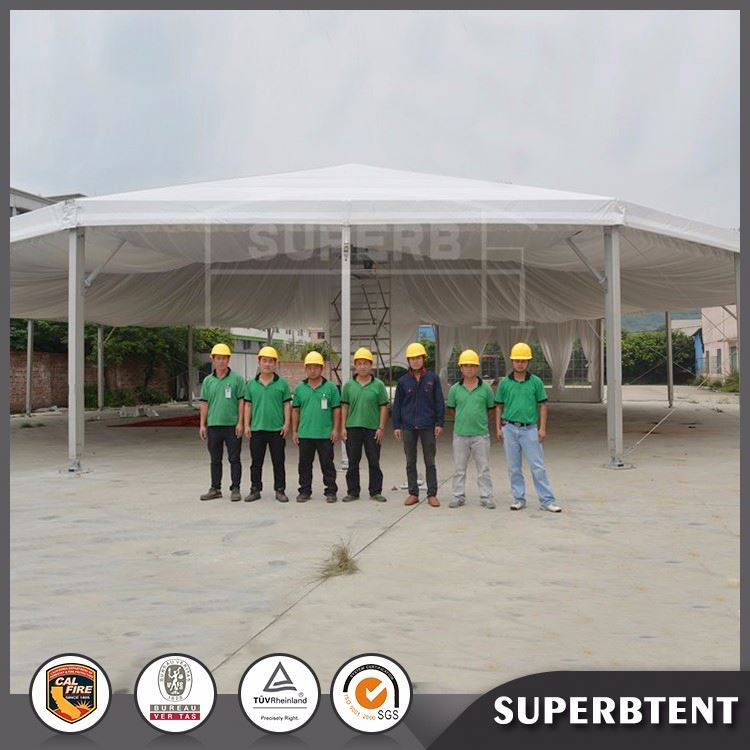 Newest design popular diameter 8m multi-sided octagon dome party tent party tent for events wedding party exhibition for sale