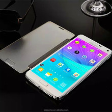 factory price smart cover Clear View Window mirror leather flip case for oppo a39