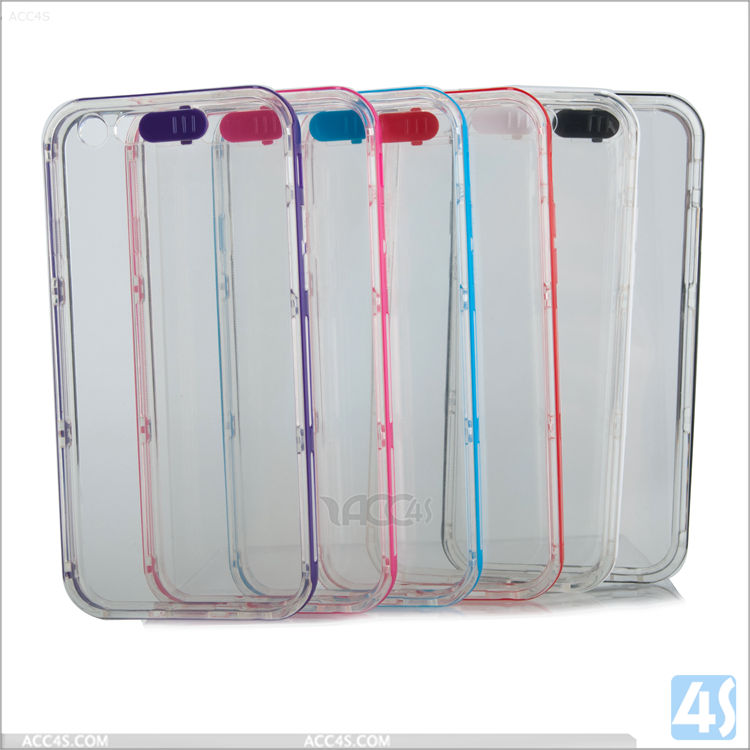 Hybrid High Impact Tpu Transparent Plastic Mobile Phone Case For Iphone 6