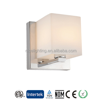 Square opal glass shade wall sconce, Canadan hot sales wall lamp