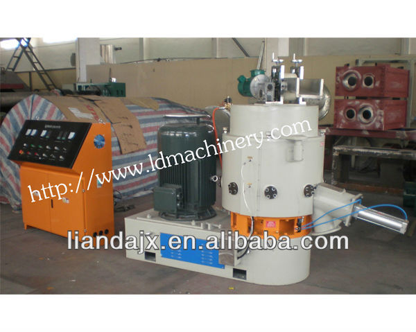 plastic film agglomerating/compacting machine