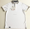 newest 100% polyester uniform fashion men custom white polo shirt