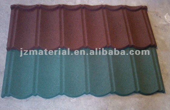 colorful stone coated metal roof tile/ harvey metal roofing tiles classic type YX1170*420