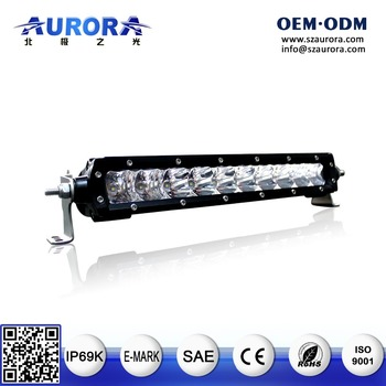IP69K AURORA 4x4 Accessories E-mark Offroad Single Row Led Light Bar
