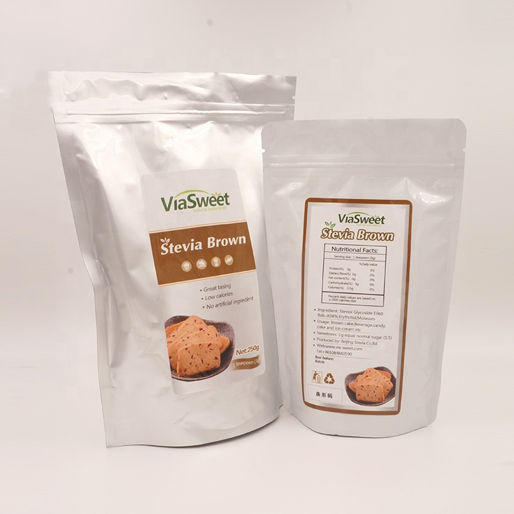 ViaSweet low calorie wholesale <strong>natural</strong> sweetener stevia brown, brown sugar substitute