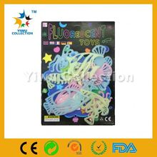 newest fluorescent night glowing sticker,peel off fluorescent sticker paper,glow in the dark flowers