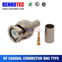 BNC to RG6 Crimp Male Connector for cable terminals