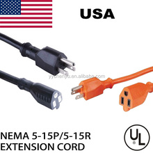 5-15p C13 Indoor/outdoor extension cord UL standard 10 13A 125v