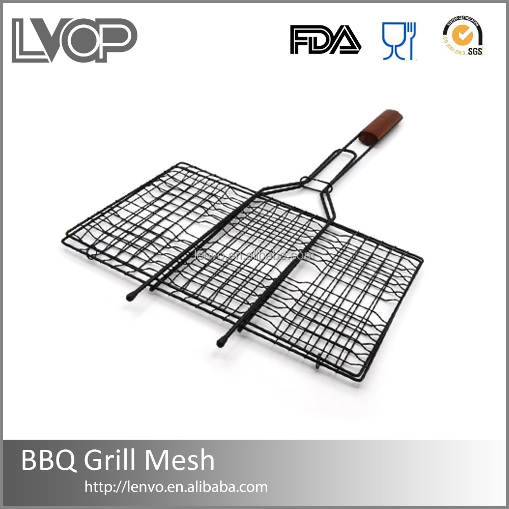 BBQ-GM014 Best sell stainless steel crimped wire mesh for roast barbecue grill wire netting