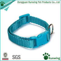 High Quality Nylon Adjustable Pet Dog Plain Collar With Buckle and Clip For Lead Leash