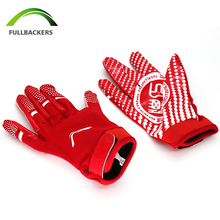 American Football Receiver Gloves /Red Color