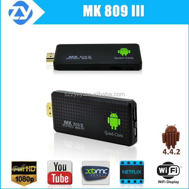 Quad Core RK3188 TV Box MK809iii Android 4.2 2GB 8GB Bluetooth Wifi Google TV Player HDM MK809 III with wireless keyboard