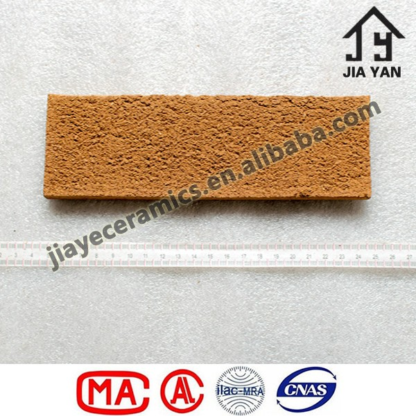 Anti Abrasion Wall Decorating Clay Rough Face Brick