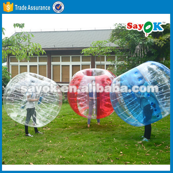1.0mm PVC inflatable bumper ball soccer bubble ball for football