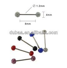 Vibrating Barbell Ring Body Piercing Jewelry,Stainless Steel Body Piercing Jewelry Tongue Rings Factory Wholesale Online Alibaba