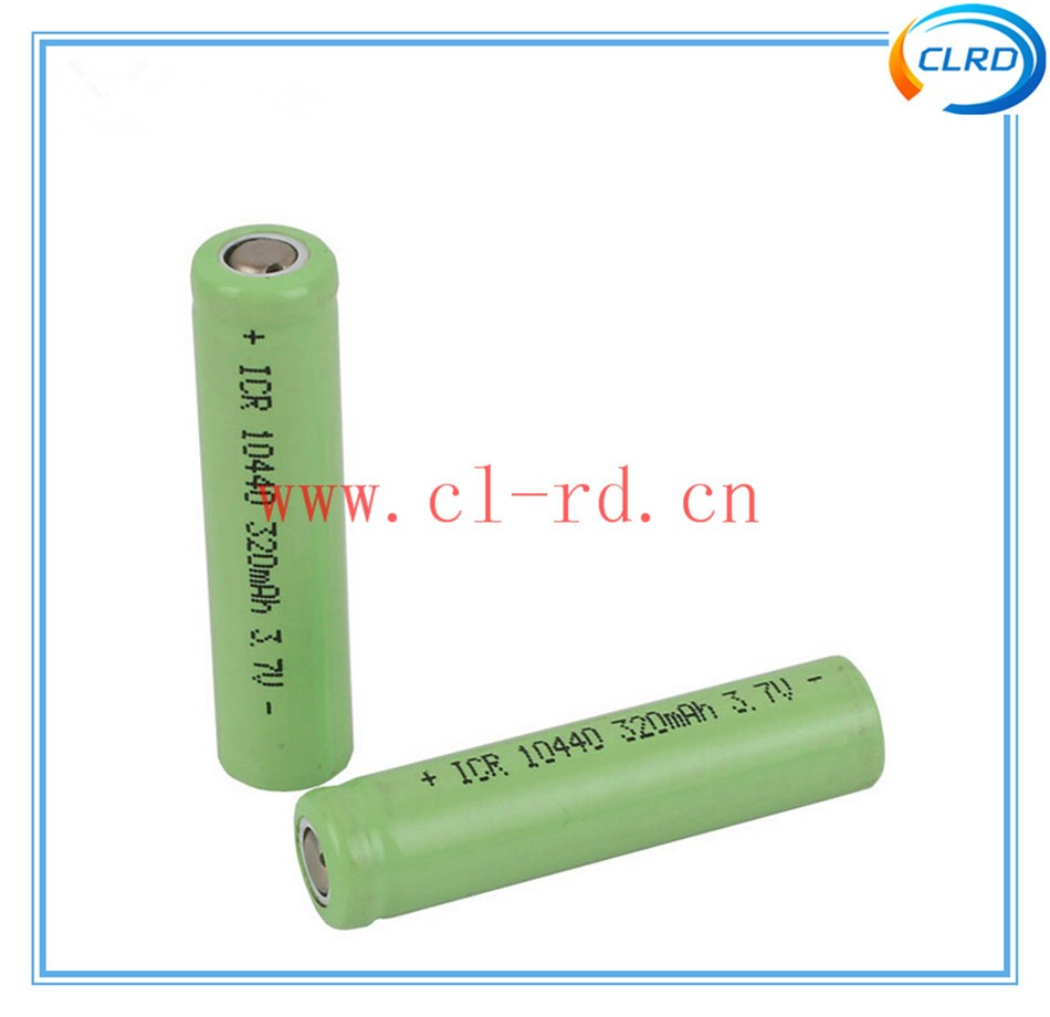 ICR10440 3.7V 320mAh Li-ion rechargeable battery consumer AAA size