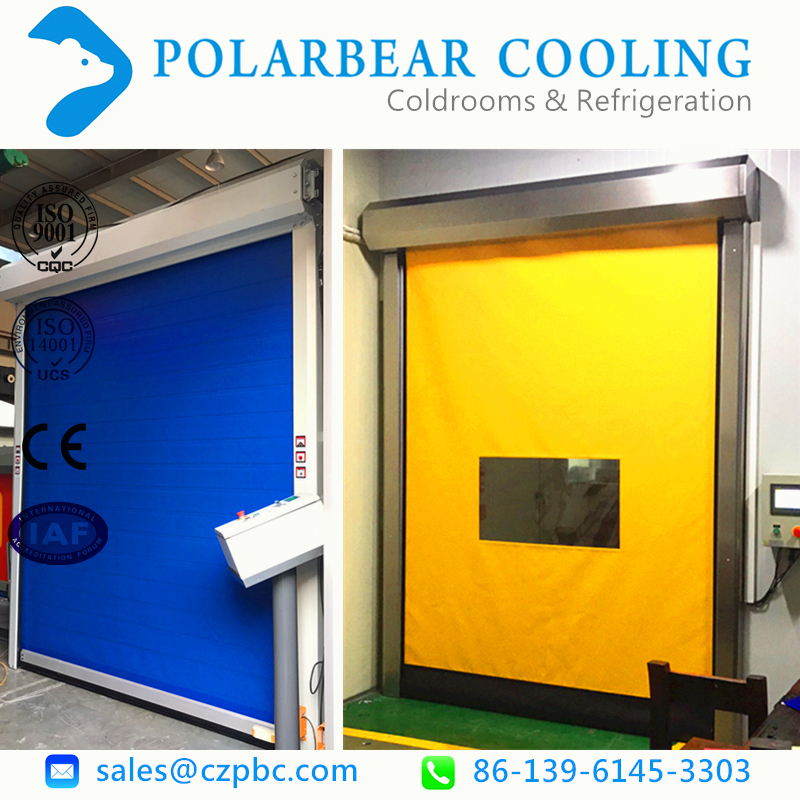 Aluminum roll up door/pvc fabric roll up door rapid door
