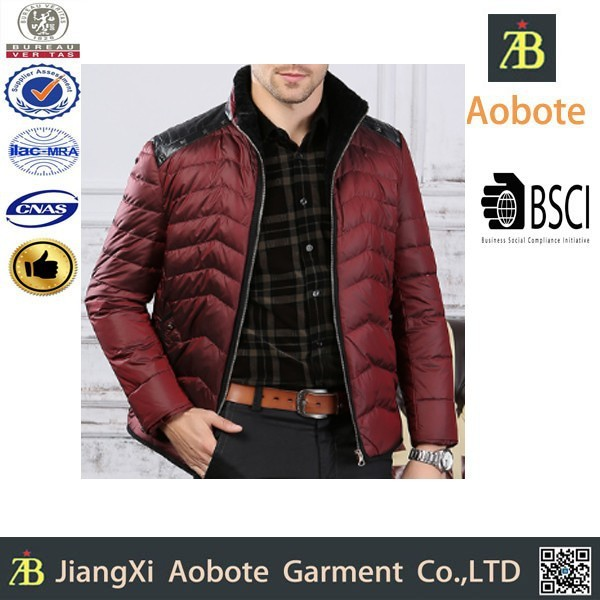2015 New Fashion Stylish Cheap China Ultralight Down Jacket For Man