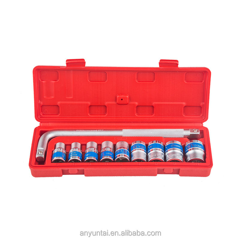 10 Pcs socket set hand <strong>tools</strong> for car repairing