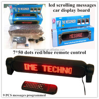 7*50 LED Programmable Message Sign Moving Scrolling Display board
