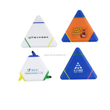3 in 1 Triangular shaped highlighter pens with logo customized