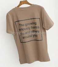 China supplier custom t-shirt printed hemp t shirts wholesale promotional tshirt