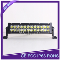 Diecast Aluminum Housing 72W 6000LM off road led light bar