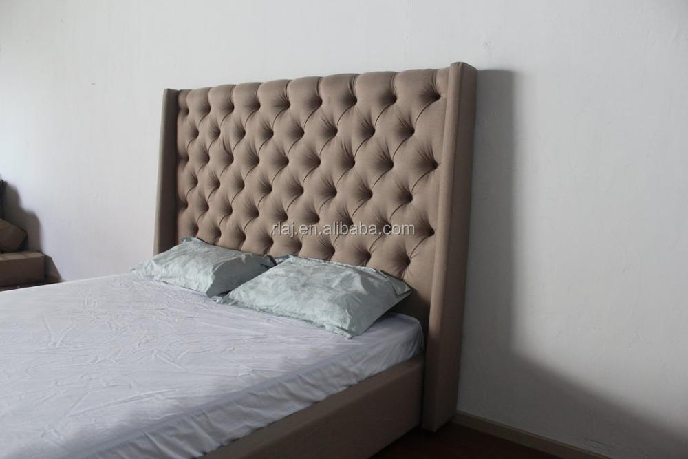 Luxury American style bedroom furniture button tufted upholstered Queen size bed