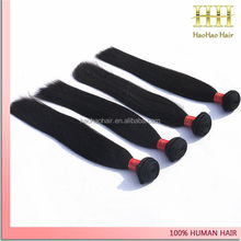 5A grade unprocessed professional Machine Made Double Weft Virgin Hair By The Bundle