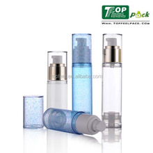 Plastic cosmetic bottle 50ml 30ml airless pump container