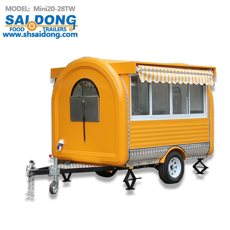 factory supply good price snack food trailer for sale