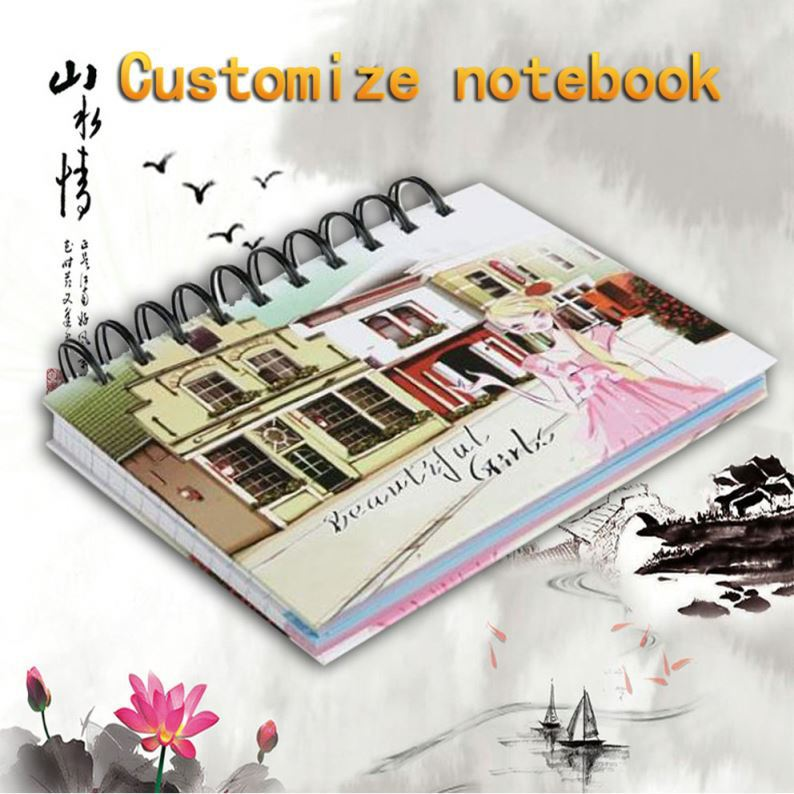 Spiral Notebook & Calculator And Pen With Ruler On Back Pu Pp Cover
