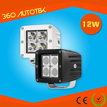 Mini 4.3inch brightness 12W offroad cheap led work light for tractor, truck, motocycle
