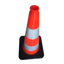 2017 Hot Selling Spainsh Reflective PVC Road Cone with Skid-proof Handle