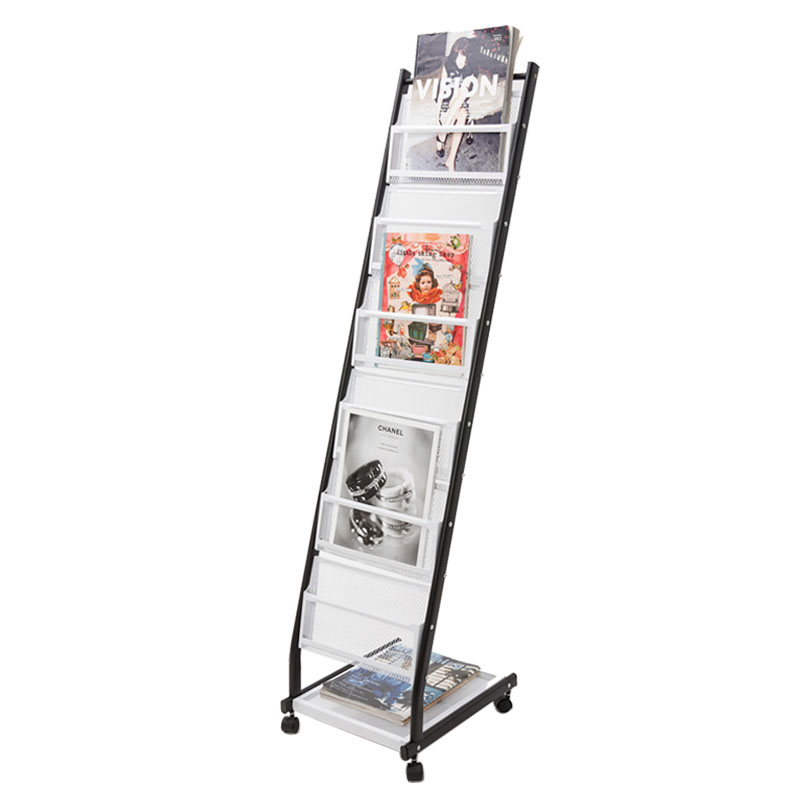 Portable Meta Book Magazine Rack Brochure Display Stand