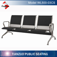 2016 Stainless Steel Waiting Chair/Airport Seating/Public Chair with Cushion(WL500-03CS)