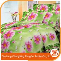Latest design 3d bedding sheet set printed by flowers