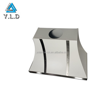 Precision Sheet Metal Fabrication Custom White Powder Coating Steel Vent Hood With Rivets