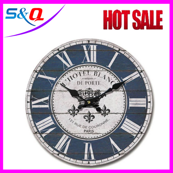 2016 China wholesale Hot -end wooden digital clock wall clock