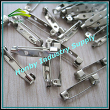 Brooch Pin Back Base Safety Pin With 2 Holes 25mm