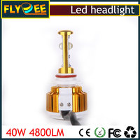 2016 high quality super bright auto lighting 40W 4800lm V16 CREEs 9005 9006 car headlight led for hyundai ix35