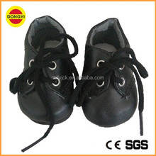 Fashion black colour doll shoes wholesale 14 inch doll shoes