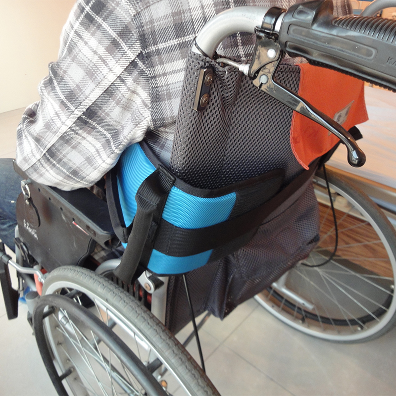 wheelchair accessories Polyester blue Patient Gait Belt with Handles