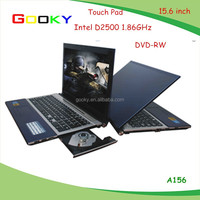 15.6 inch 4GB 750GB Intel D2500 laptop prices mini laptop with dvd drive