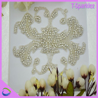 Jewelry Connector Rhinestone Applique for Dress