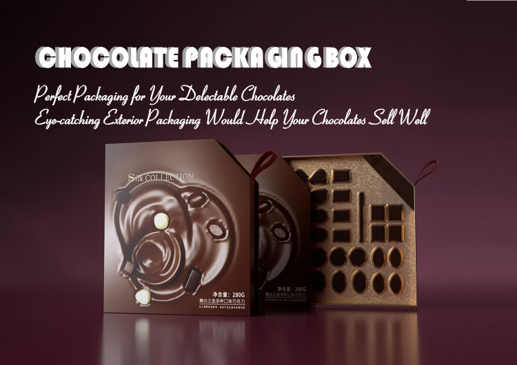 Factory custom luxury cardboard paper gift packaging for cookie candy chocolate box