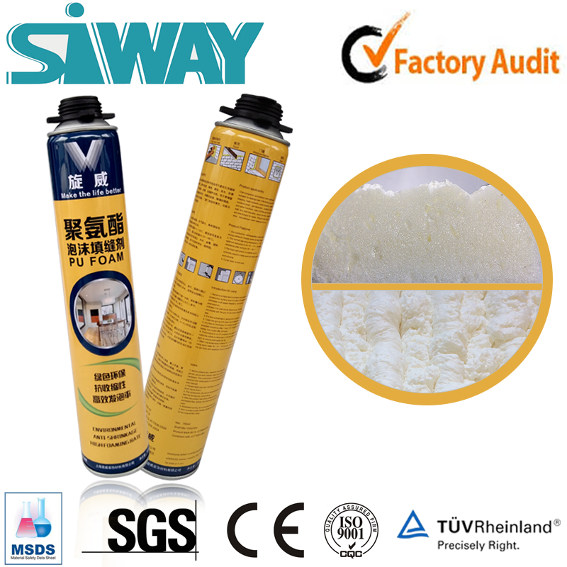 Construction general purpose large expansion One Component PU polyurethane pu foam raw materials