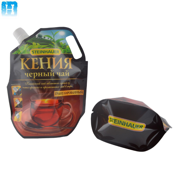 Alibaba China new product Plastic stand up food storage bag 250g spout pouch bag