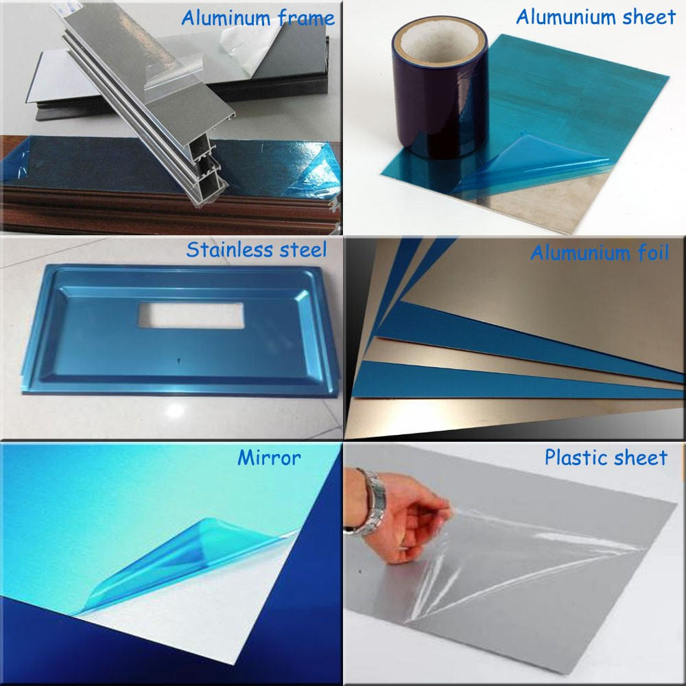 Self adhesive plastic film protection
